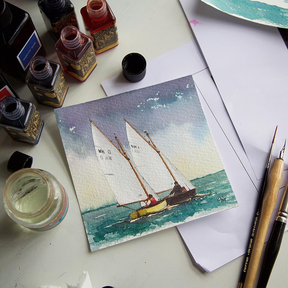 Diamine Inks as an alternative watercolour medium