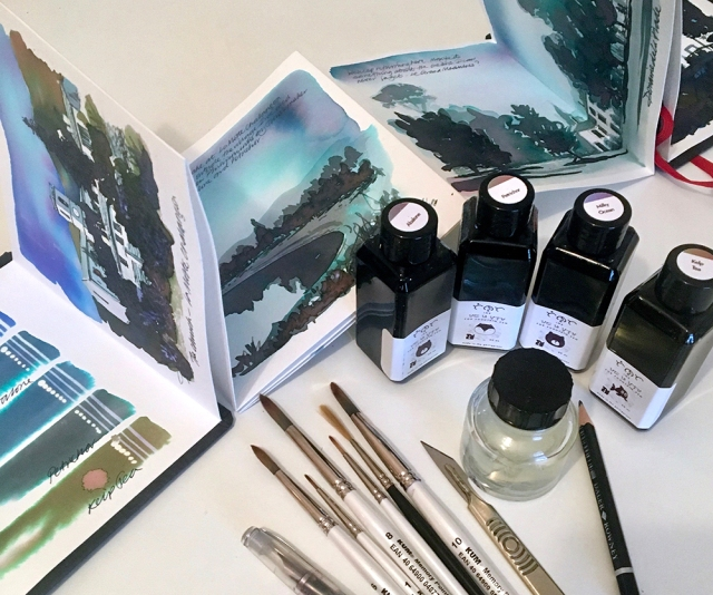 Painting with Troublemaker Inks